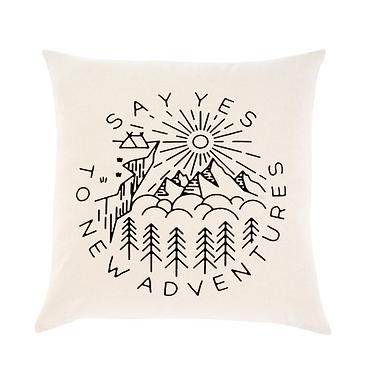 'New Adventures' Pillow