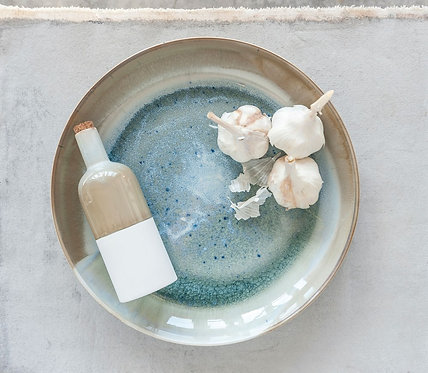 Ceramic Reactive Glazed Low Bowl