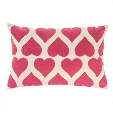 Embroidered Heart Pillow