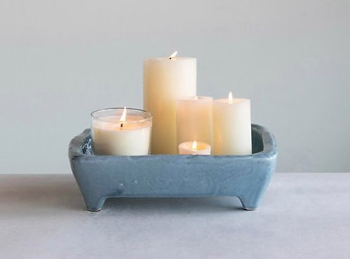 Ceramic Blue Footed Tray