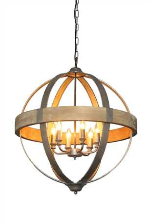 Combines The Geometric Dimension Of Diamonds And Circles To Create An Interesting Take On A Simple Lighting Concept 26 1 4 Round Metal Wood Pendant