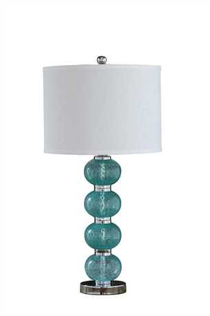 Aqua Glass Table Lamp