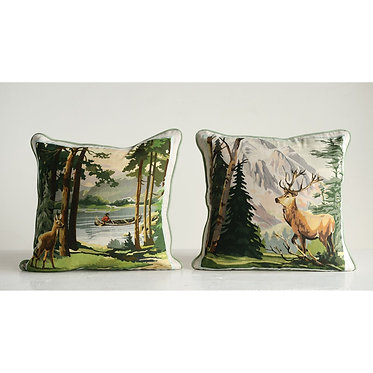 Vintage Paint by Numbers Inspired Pillows