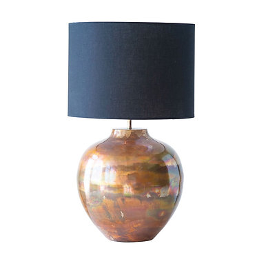 Copper Metal Lamp with Black Shade