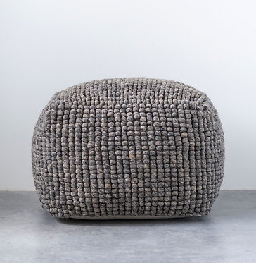 New Zealand Wool Pouf