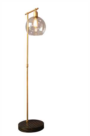 Gold & Glass Globe Floor Lamp 2