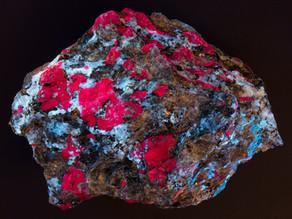 Corundum xls (Ruby) in Andesine - Arendal, Norway