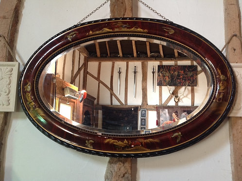 Chinoiserie Oval Mirror