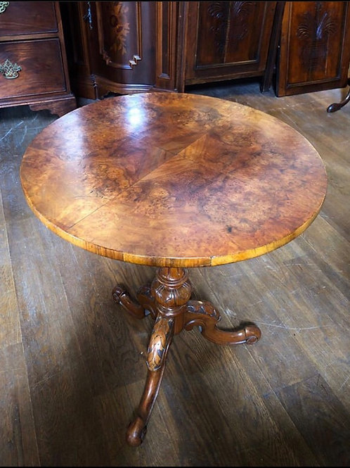 Burr Walnut Tripod Table