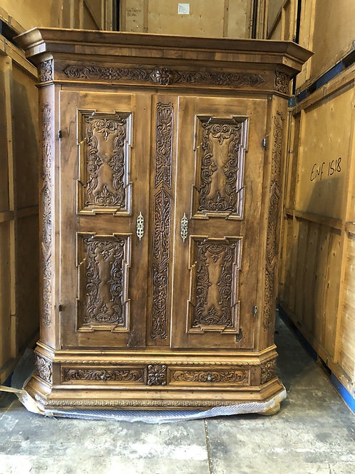 Heavily Carved Antique Wardrobe