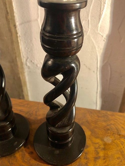 Barley Fret Twist Candlesticks