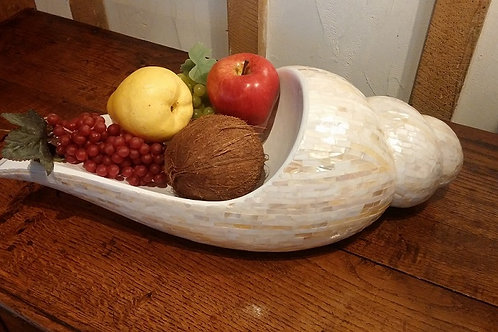 Mother of Pearl Shell Fruit Bowl