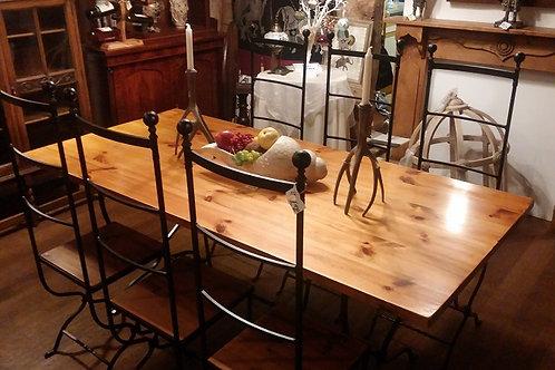 Wood & Iron Dining Set