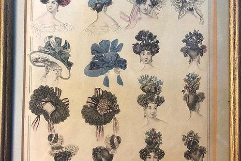 Pair of Georgian Hairstyle Prints