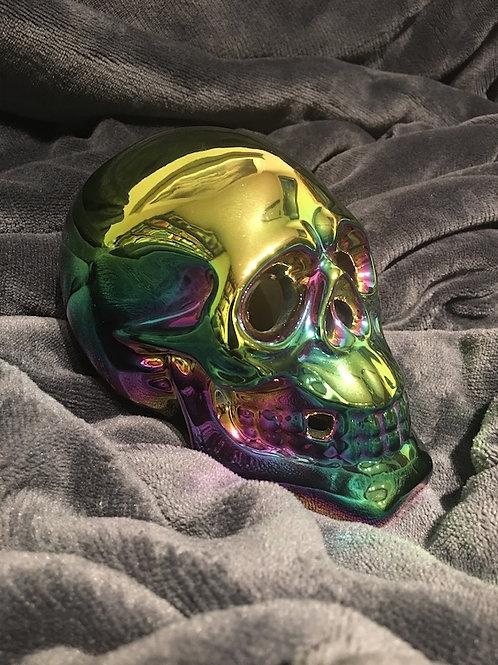 Rainbow Iridescent Skull sm