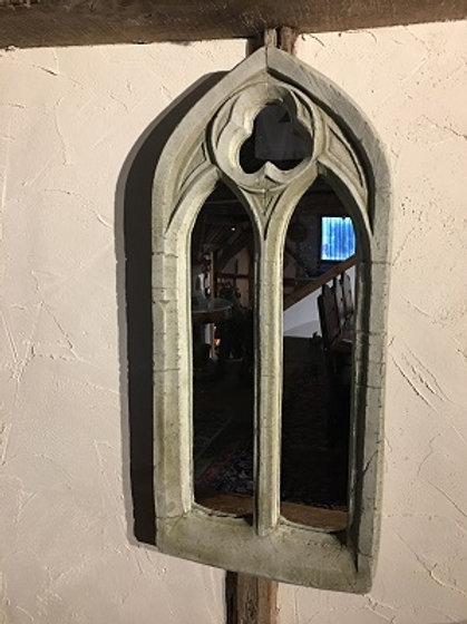 Gothic Arch Stone Mirror