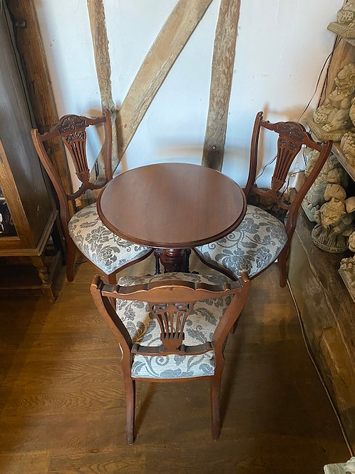 Edwardian Tripod Table and Chairs