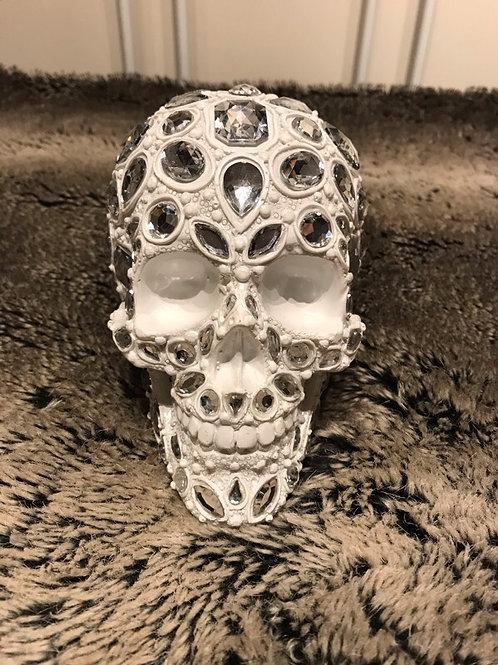 White Bling Skull