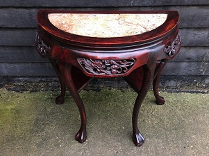 Carved Demi-Lune Table