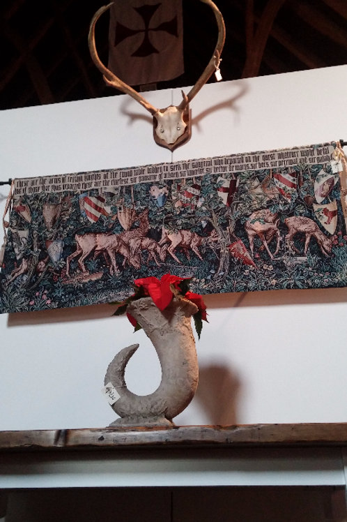 Grail Quest Verdure w/Deer & Shields Tapestry
