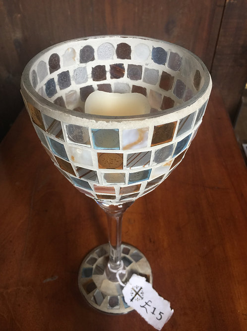 Coloured Glass Candle Holder