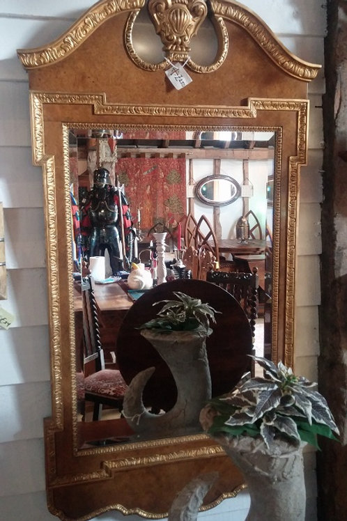 Burr Walnut Georgian style mirror