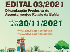 Governo da Bahia abre edital com R$ 12 milhões para fortalecer a agricultura familiar