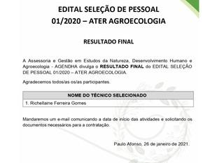 Edital de Seleção de Pessoal - Ater Agroecologia