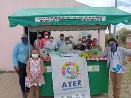 Feira local do Projeto ATER Agroecologia une a comunidade e estimula a comercialização
