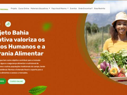 Baianos contam com plataforma digital como espaço de formação em segurança alimentar e nutricional