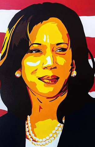 Painting of Senator-General Kamala Harris by Trent
