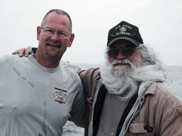 Capt. Mark and Veteran Bob