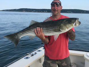 Rick with a nice Striper