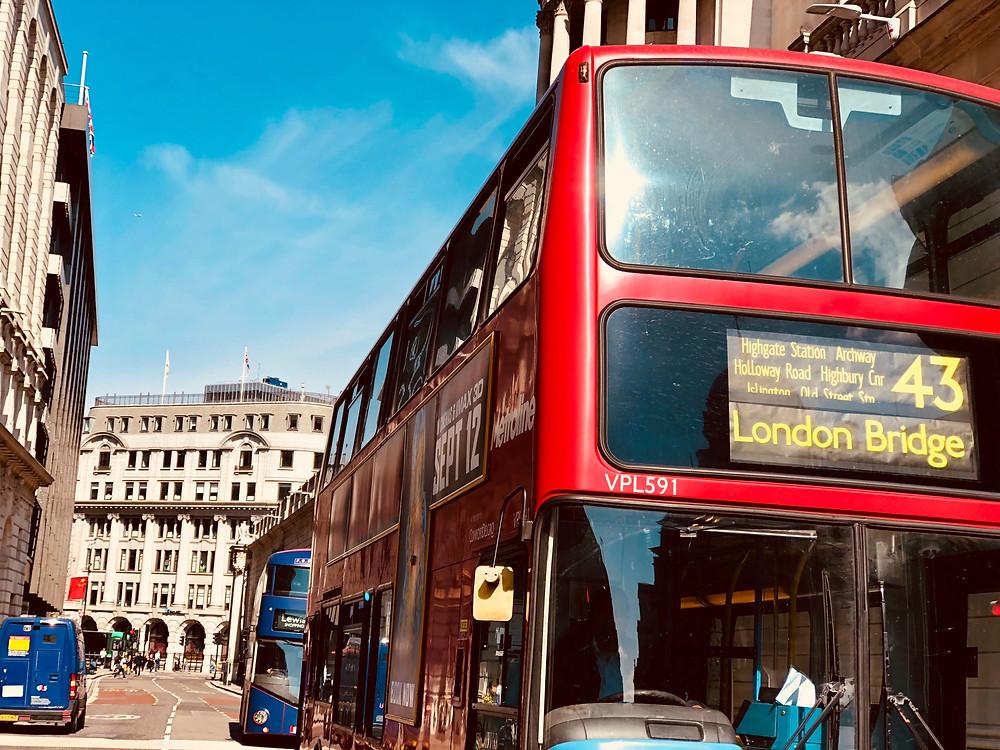 Red Bus to London Bridge