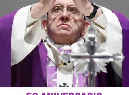 Papa Francisco envía este mensaje por su 50 aniversario de sacerdocio