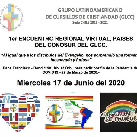 1er Encuentro Regional Virtual, Paises del Conosur del GLCC.