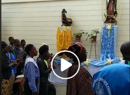 La Guadalupana desde Kenia, comparte Alma Gaxiola, joven misionera laica, de Durango.