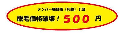 セルフ脱毛が500円から