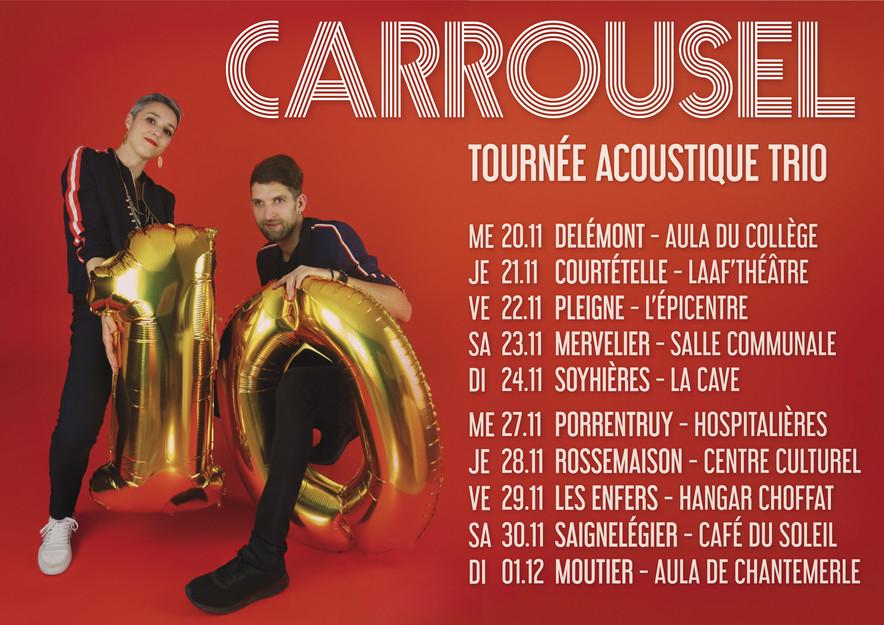 18/06/19 Dix ans de scène: tournée acoustique trio!
