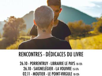 19/10/19 Les rencontres dédicaces dans les librairies jurassiennes!