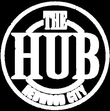 The Hub Logo White Distress.png
