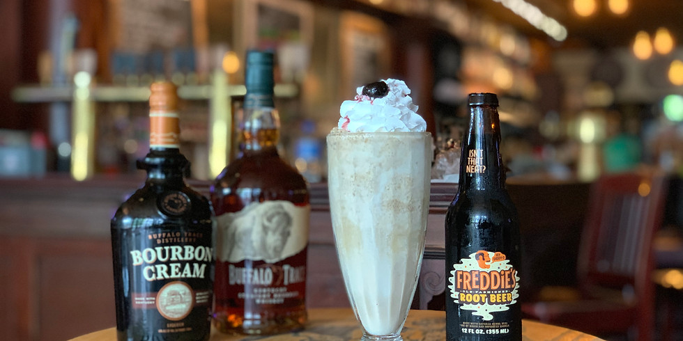 Adult Root Beer Floats: Buffalo Trace + Freddie's Root Beer