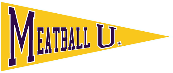 Meatball U. logo triangle only west ches
