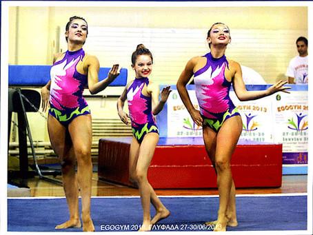 Η Χρυσή τριάδα Ακροβατικής Γυμναστικής του Συλλόγου στο Gala της Ελληνικής Γυμναστικής Ομοσπονδίας
