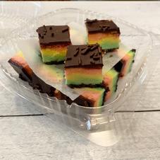 Rainbow cookie bites $1.25 ea