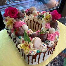 Customized letter cake
