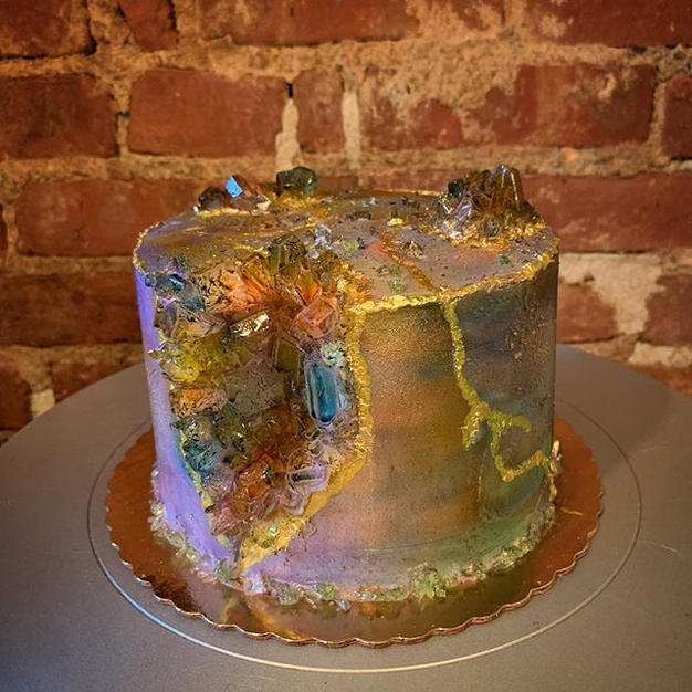 Rainbow Quartz inspired Geode cake ( email for pricing)