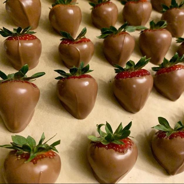 Belgian chocolate dipped strawberries