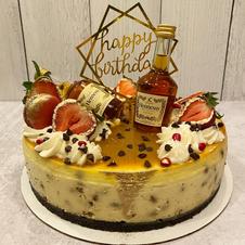 Custom Hennesy cheesecake