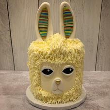 Buttercream llama cake